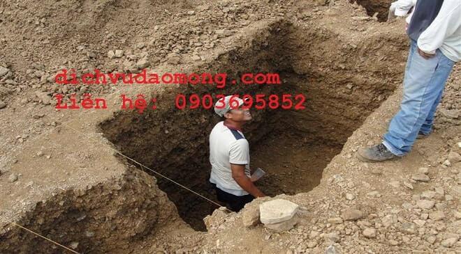 nhận đào móng nhà
