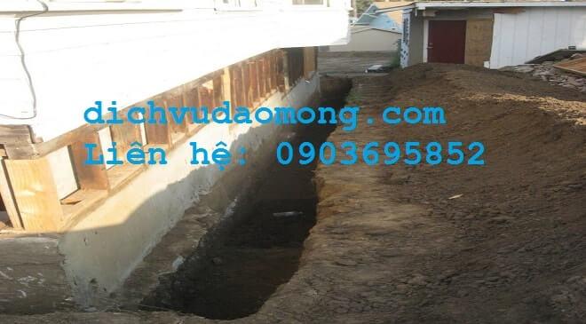 Nhận đào móng nhà tại tphcm