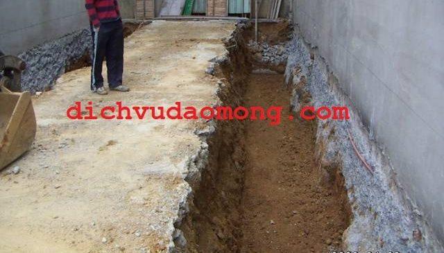 Đào móng nhà tại Đồng Nai