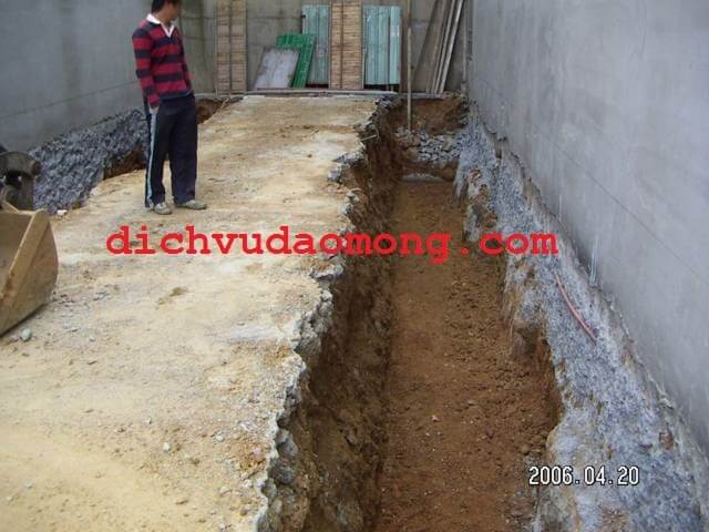 đào móng nhà tại quận gò vấp